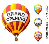 Vector Hot Air Balloons With...