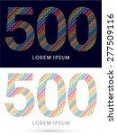 500  number  font  designed... | Shutterstock .eps vector #277509116