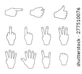 set of gestures. contours on a...   Shutterstock .eps vector #277510076