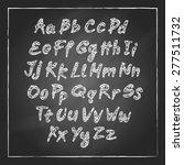 vector illustration of chalk... | Shutterstock .eps vector #277511732