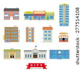 city buildings vector set.... | Shutterstock .eps vector #277514108