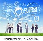 support solution advice help... | Shutterstock . vector #277521302