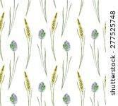 Watercolor Pattern Wild Plants