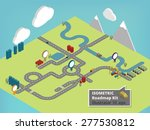 create your own isometric road... | Shutterstock .eps vector #277530812