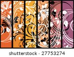 set of decorative floral panels | Shutterstock .eps vector #27753274