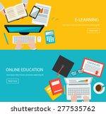 online education  e learning... | Shutterstock .eps vector #277535762