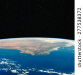 south africa from space with...
