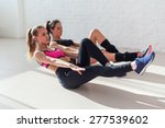 side view of stretching at yoga ... | Shutterstock . vector #277539602