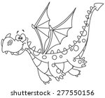 outlined flying dragon. vector... | Shutterstock .eps vector #277550156