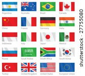 vector file of waving g 20... | Shutterstock .eps vector #27755080