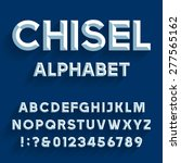 Chiseled Alphabet Vector Font....