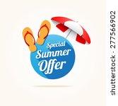 special summer offer long shadow   Shutterstock .eps vector #277566902