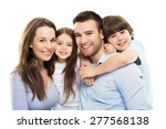 young family with two kids  | Shutterstock . vector #277568138