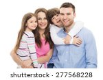young family with two kids  | Shutterstock . vector #277568228