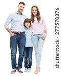 family with son  | Shutterstock . vector #277570376