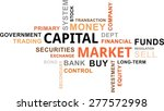 a word cloud of capital market...   Shutterstock .eps vector #277572998