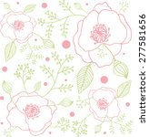 decorative floral background... | Shutterstock .eps vector #277581656