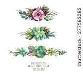 set of floral compositions in... | Shutterstock .eps vector #277583282
