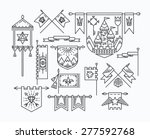 set of linear graphical flags ... | Shutterstock .eps vector #277592768