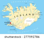 ������, ������: Iceland Political Map with