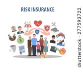 insurance concept with human... | Shutterstock .eps vector #277593722