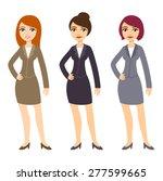 three cartoon young... | Shutterstock .eps vector #277599665