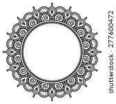 mehndi  indian henna tattoo... | Shutterstock .eps vector #277600472