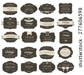 Stock vector set of vintage label old fashion banner vintage 277606598