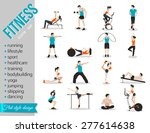 training people icons set for... | Shutterstock .eps vector #277614638