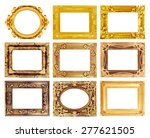 the antique gold frame on the... | Shutterstock . vector #277621505