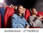 cinema  entertainment and... | Shutterstock . vector #277628312