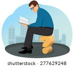 thoughtful businessman sitting... | Shutterstock .eps vector #277629248