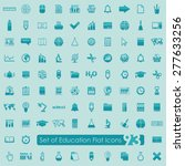 set of education icons | Shutterstock .eps vector #277633256
