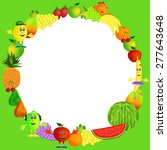 colorful healthy fruit... | Shutterstock .eps vector #277643648