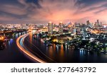 Chao Phraya River At Night...