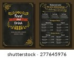 restaurant food menu vintage... | Shutterstock .eps vector #277645976