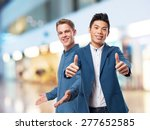 chinese man double okay gesture | Shutterstock . vector #277652585