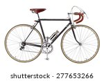 vintage bicycle isolate on...   Shutterstock . vector #277653266