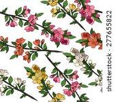 blossom tree pattern. vector... | Shutterstock .eps vector #277655822