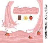 milk splash design elements...   Shutterstock .eps vector #277671662
