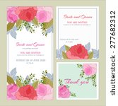vector. set wedding invitation... | Shutterstock .eps vector #277682312