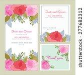 vector. set wedding invitation... | Shutterstock .eps vector #277682312