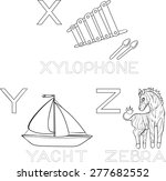 coloring alphabet | Shutterstock . vector #277682552