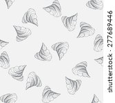 meringues kiss pattern | Shutterstock .eps vector #277689446