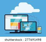 web design over blue background ... | Shutterstock .eps vector #277691498
