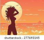 vector illustration of girl at... | Shutterstock .eps vector #277693145