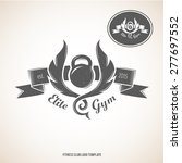 fitness club logo template with ... | Shutterstock .eps vector #277697552