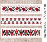 belarusian folk embroidery ... | Shutterstock . vector #277707548