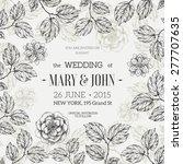hand drawn floral wedding... | Shutterstock .eps vector #277707635