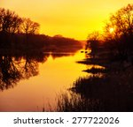 Blurred View Of The River At...